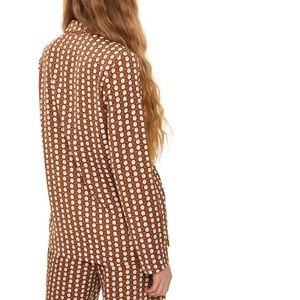 Topshop Jackets & Coats - Topshop Geo print pajama jacket brown multi 2 US